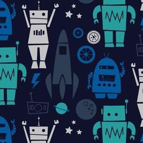 Rockets 'N Robots (Blue)