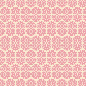 Tailspin Pink and Cream