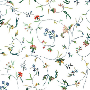 Cecile Embroidered Chintz  ~ Bright