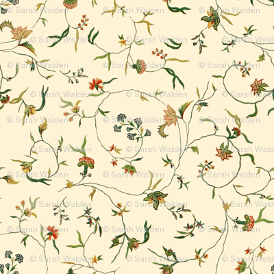 Cecile Embroidered Chintz  ~ Gypsophila