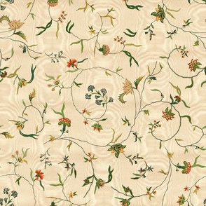 Cecile Embroidered Chintz  ~ Gypsophila Moire