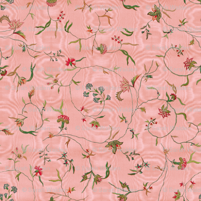 Cecile Embroidered Chintz  ~ Dauphine Moire
