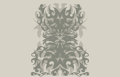 "Tattoo Tribal Stone Panel - 56"" wide fabric by stacyck on Spoonflower - custom fabric"