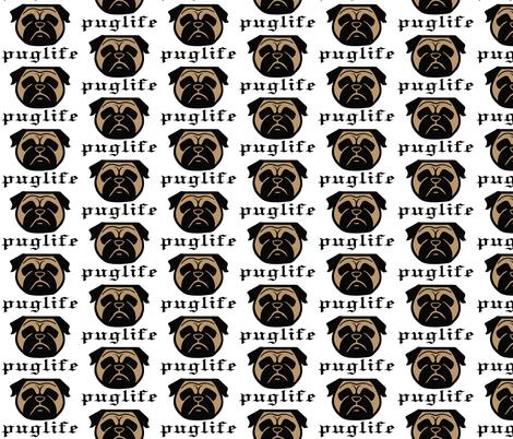 Pug life - thug pug dog - Pugsta' pup - perfect pug fabric fabric by cheeky~hodgepodge on Spoonflower - custom fabric