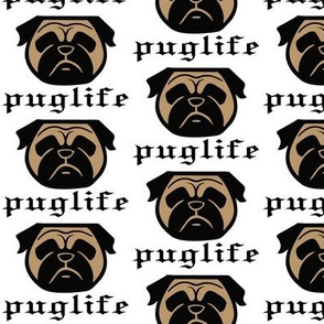 Pug life - thug pug dog - Pugsta' pup - perfect pug fabric