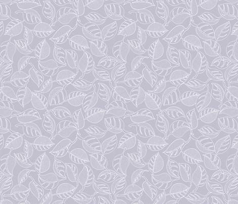 nordicLeaves fabric by thelazygiraffe on Spoonflower - custom fabric
