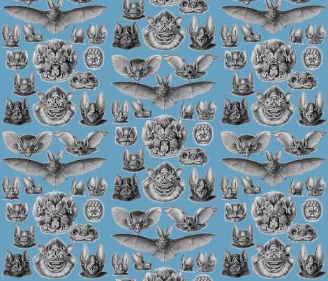 chiropterablue fabric by craftyscientists on Spoonflower - custom fabric