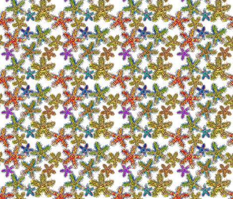 seastar2white fabric by bbusbyarts on Spoonflower - custom fabric