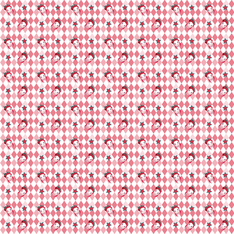 BCSF2016_CIRCUSGIRL_PINK_LARGESZ fabric by agreencat on Spoonflower - custom fabric