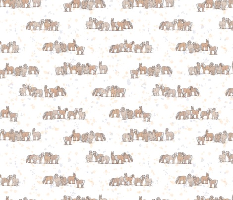 horsesMono fabric by thelazygiraffe on Spoonflower - custom fabric