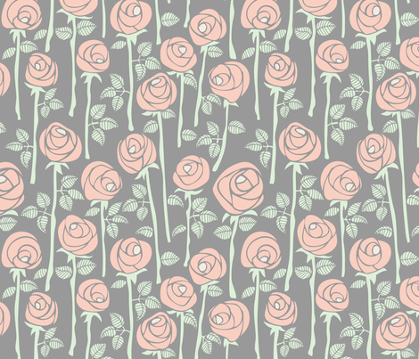 Spring coloured roses fabric by alialibibi on Spoonflower - custom fabric