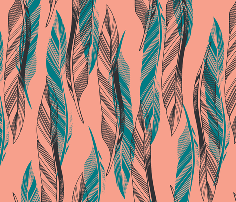 Feathers #3 fabric by fridajosefin on Spoonflower - custom fabric