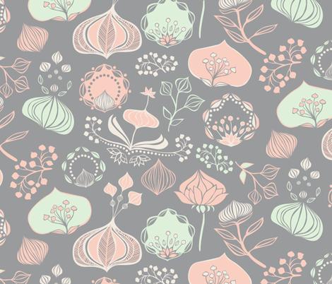 Wilderflower Blooms fabric by ceciliamok on Spoonflower - custom fabric