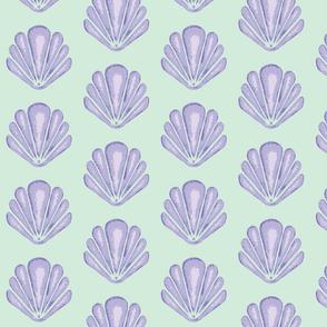Clamshells -Lavender/Mint