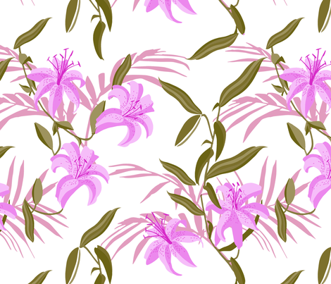 tiger_lily_purple fabric by holli_zollinger on Spoonflower - custom fabric