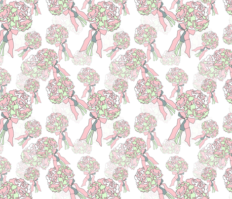 Wedding bouquet fabric by sherrys on Spoonflower - custom fabric