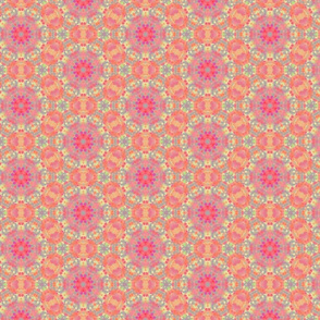 Circles & Dotted Geometric Pattern