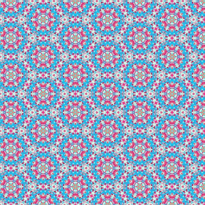 Happy Blue & Pinky Circles Pattern
