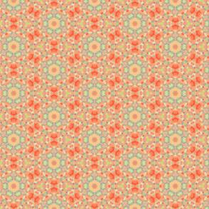 Dainty & Soft Orange & Pink Flower Pattern