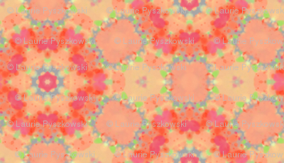 Orange & Peach Circle Flower Pattern