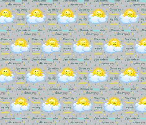 You Are My Sunshine fabric by 80schick on Spoonflower - custom fabric
