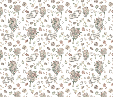 Bride's Big Day fabric by new_illustrations on Spoonflower - custom fabric