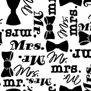 mr and mrs black/white by Diane Gilbert