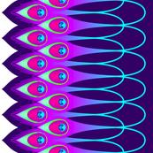 Peacock Feathers Border-ed