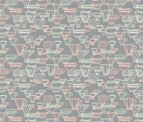 Teacup Scatter fabric by carabaradesigns on Spoonflower - custom fabric