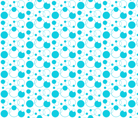 Turquoise Teal Blue Polka Dot Geometric Abstract fabric by decamp_studios on Spoonflower - custom fabric