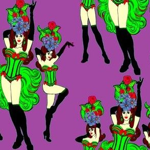 Burlesque Babes in corsets
