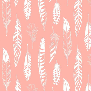 Feathers_Coral Pink