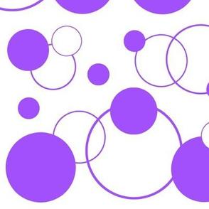 Purple Polka Dot Geometric Abstract LARGER SIZE