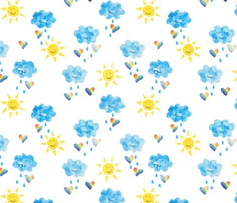 Rainbow Love fabric by 3o'clockbadger on Spoonflower - custom fabric
