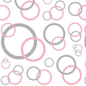 Pink Grey Gray Modern Geometric Circle
