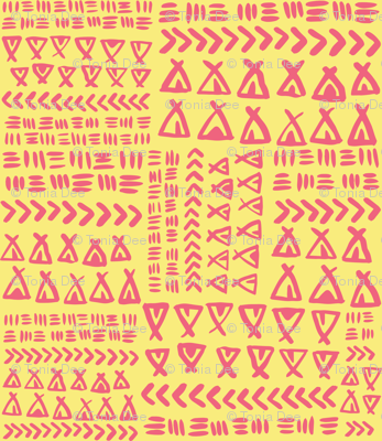 TeePee Texture - Pale Yellow