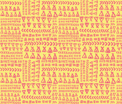 TeePee Texture - Pale Yellow fabric by tonia_dee on Spoonflower - custom fabric