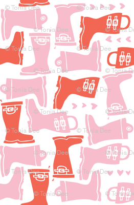 Girly Galoshes - Light Pink
