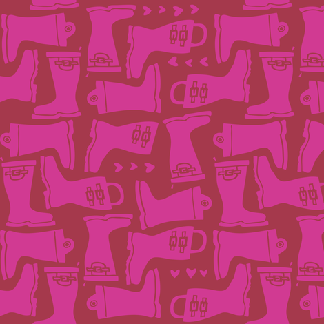 Girly Galoshes - Magenta fabric by tonia_dee on Spoonflower - custom fabric