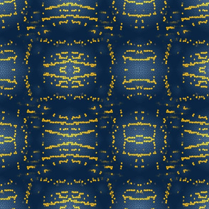 Navy and Yellow Stained Glass