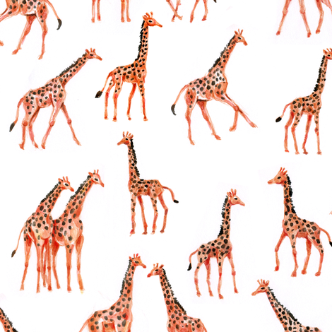 Giraffes fabric by imaginaryanimal on Spoonflower - custom fabric