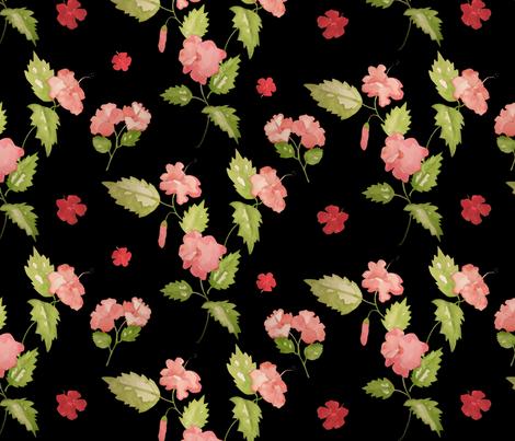Island Hibiscus fabric by mariden on Spoonflower - custom fabric