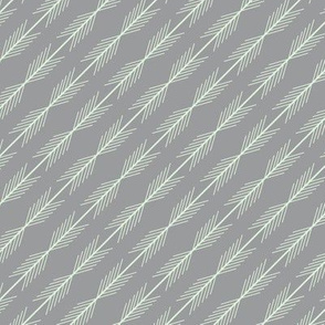 Cucumber & Gray Stripe