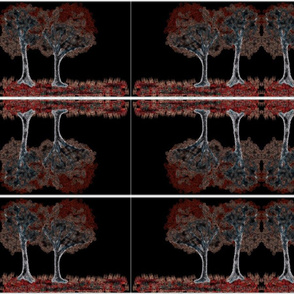 Trees in reds - Mirrored