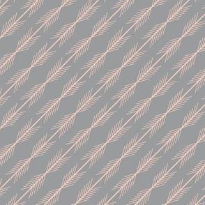 Peaches & Gray Stripes