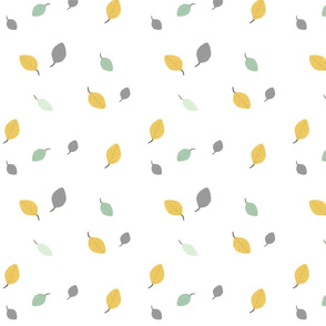 Wedding Fabric 2016 Forest Leaves Cucumber Grey Mustard