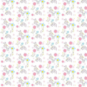 rabbit_cute_kawaii_flowers_mouse_love