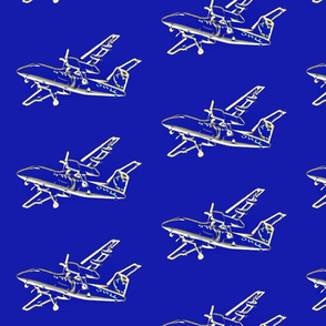 planes - royal blue - bigger