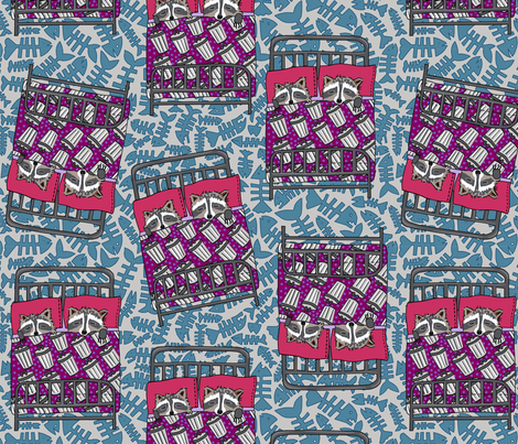 lead with fish bones [slate + deep] fabric by kheckart on Spoonflower - custom fabric