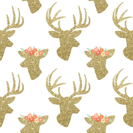 Buck and Doe fabric by mintpeony on Spoonflower - custom fabric